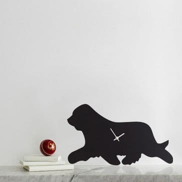 BEARDED COLLIE CLOCK  WITH WAGGING TAIL