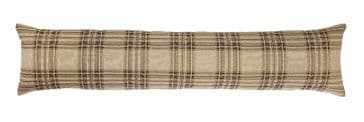 Beige Tartan - Fine Tapestry Draught Excluder