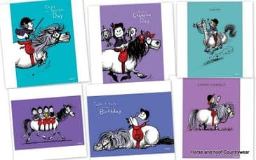 Birthday Cards by Thelwell (x6)