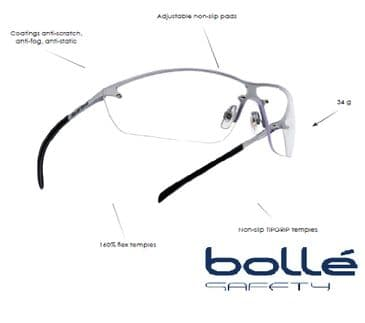 Bolle Silium Safety Shooting Glasses-Clear