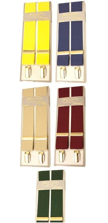 Bonart Stretch Braces - Gold
