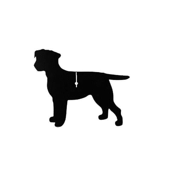 BORDER TERRIER CLOCK WITH WAGGING TAIL