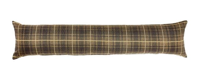 Brown Tartan - Fine Tapestry Draught Excluder