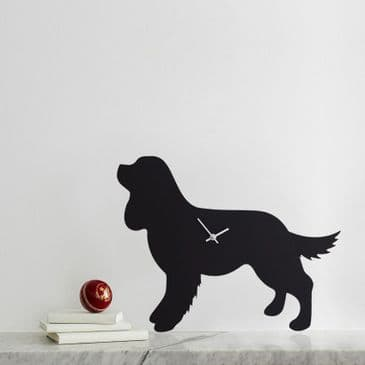CAVALIER KING CHARLES SPANIEL CLOCK WITH WAGGING TAIL