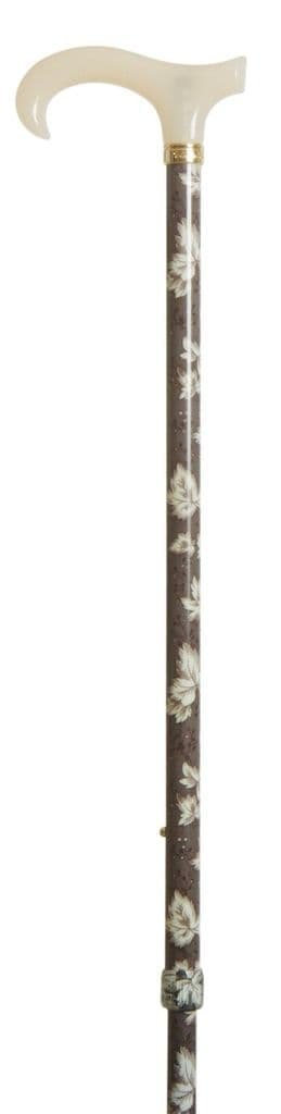 Classic Canes Extending Petite Derby With Acrylic Handle - Patterned Shaft