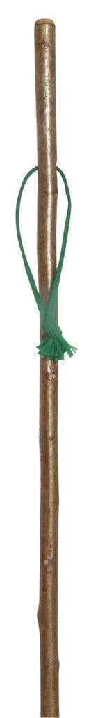 Classic Canes Hazel Hiking staff With Combi - Spike Ferrule With Green Wrist Loop