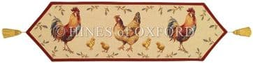 Country Hens - Fine Tapestry Table Runner