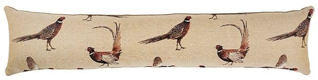 Country Pheasants - Fine Tapestry Draught Excluder