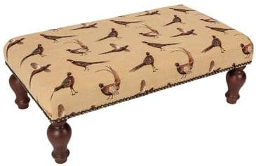Country Pheasants - Fine Woven Tapestry Stool
