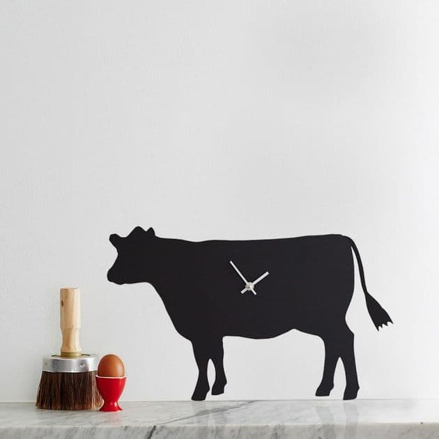 COW CLOCK  WITH WAGGING TAIL