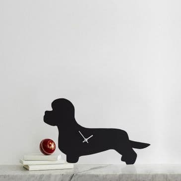 DANDIE DINMONT CLOCK  WITH WAGGING TAIL