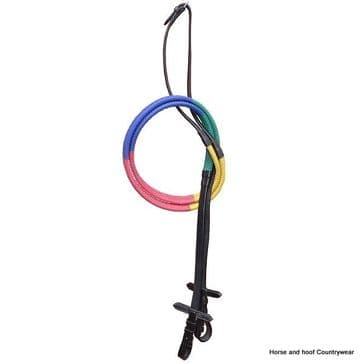 Elico Multicoloured Rubber Covered Training Reins