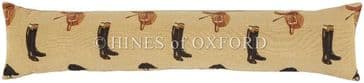 Equestrain Beige - Fine Tapestry Draught Excluder - Extra Long