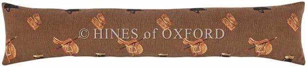 Equestrain Brown - Fine Tapestry Draught Excluder - Extra Long