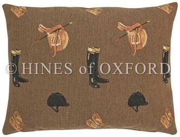 Equestrian Brown- Fine Tapestry Cushion