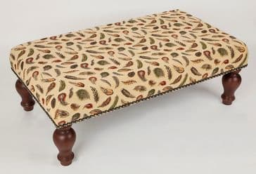 Feathers - Fine Woven Tapestry Stool