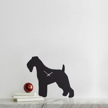 FOX TERRIER CLOCK WITH WAGGING TAIL
