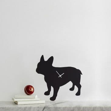 FRENCH BULLDOG CLOCK  WITH WAGGING TAIL