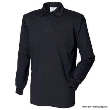 Front Row & Co Long Sleeve Plain Rugby Shirt