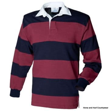 Front Row & Co Sewn Stripe Long Sleeve Rugby Shirt