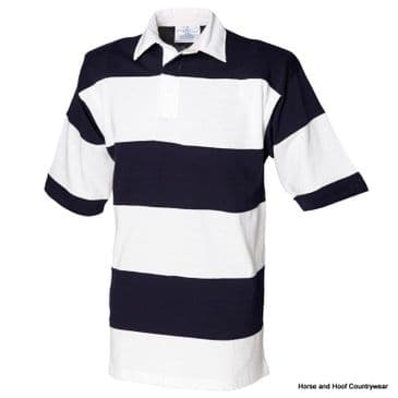 Front Row & Co Sewn Stripe Short Sleeve Rugby Shirt