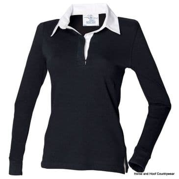 Front Row & Co Women's Long Sleeve Plain Rugby Shirt