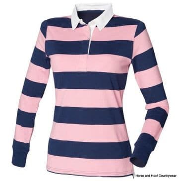 Front Row & Co Women's Striped Rugby Shirt