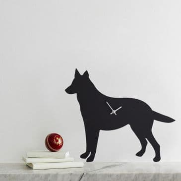 GERMAN SHEPHERD CLOCK WITH WAGGING TAIL