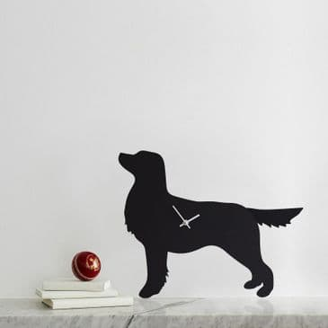 GOLDEN RETRIEVER CLOCK WITH WAGGING TAIL