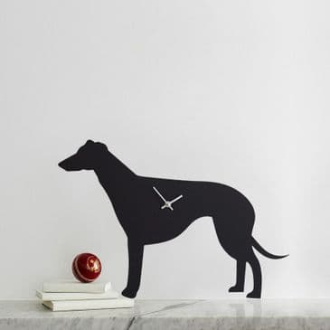 GREYHOUND / LURCHER CLOCK WITH WAGGING TAIL