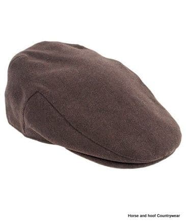 Heather Hats Joseph 'Melton' Polywool Flat Cap- Brown