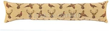 Highland Beige - Fine Tapestry Draught Excluder - Extra Long