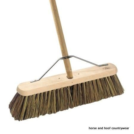 Hill Brush Platform Broom Complete with Handle & Stay