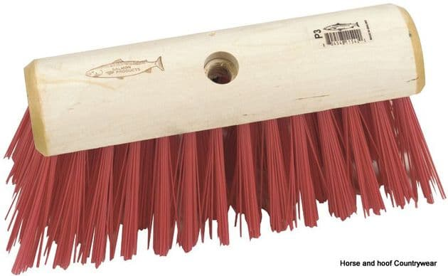 Hills Brush Yard Broom Red PVC