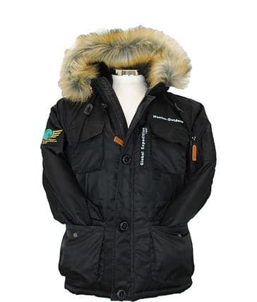 Hunter Outdoor Childrens Parka Jacket - Black