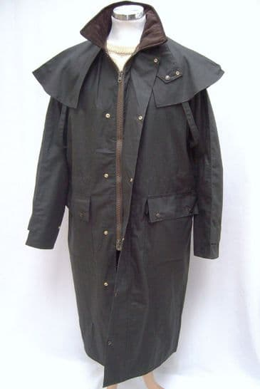 Hunter Outdoor Classic Outback Full Length Mens Wax Coat - Black