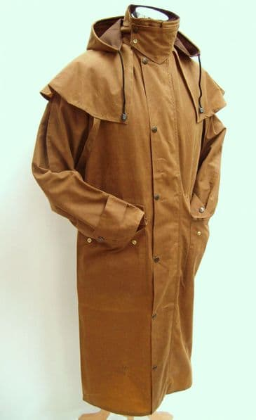 Hunter Outdoor Classic Outback Full Length Mens Wax Coat - Tan