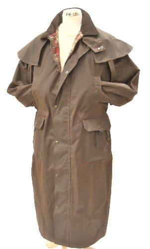 Hunter  Outdoor Edinburgh Long Wax Cotton Coat - Antique Brown