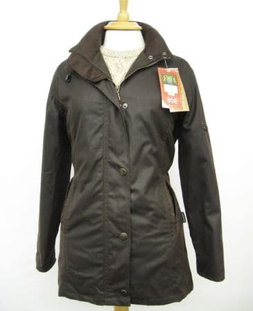 Hunter Outdoor Heritage Deluxe Ladies Fitted Wax Cotton Jacket - Antique Brown
