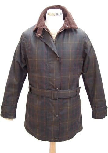 Hunter Outdoor Womens Ascot Wax Cotton Jacket - Tartan Check