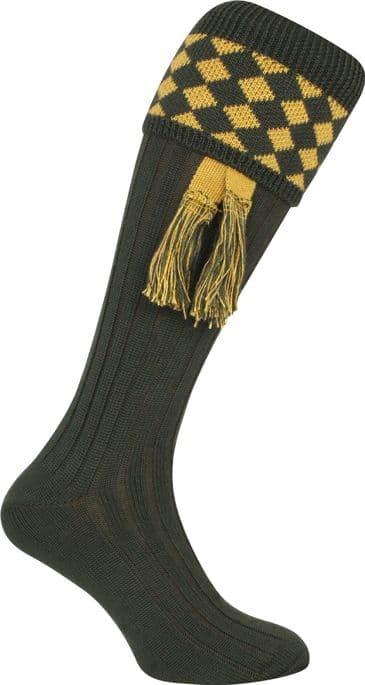 Jack Pyke Harlequin Shooting Socks - Green