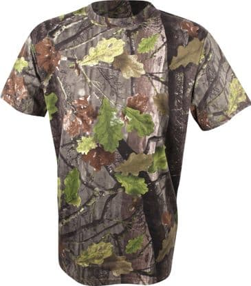 Jack Pyke Short Sleeve T-Shirt - English Oak Camouflage