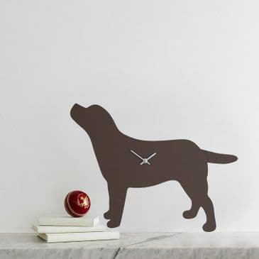 LABRADOR CLOCK WITH WAGGING TAIL - BROWN