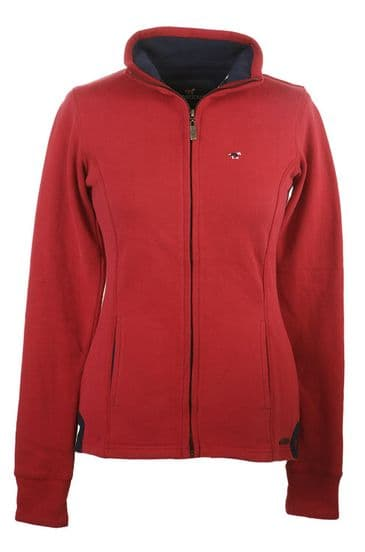Lansdown Country Hedley Full Zip Sweat Top - Chilli Red