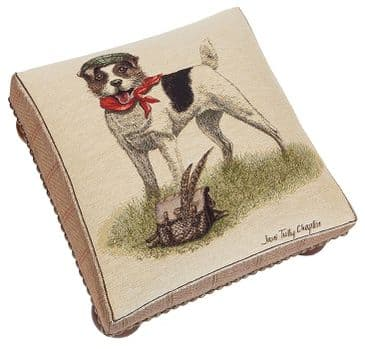 Master Jack Russell - Fine Woven Tapestry Footstool