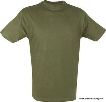 Mil-com Kids T-Shirt - Olive Green