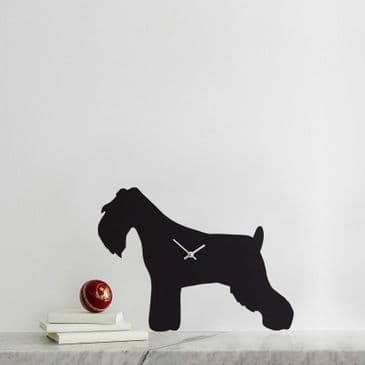 MINIATURE SCHNAUZER CLOCK  WITH WAGGING TAIL