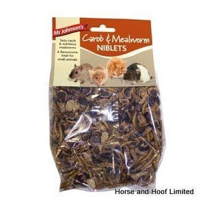Mr Johnsons Carob & Mealworm Niblets For Small Animals 6 x 150g