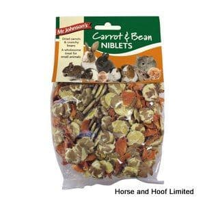 Mr Johnsons Carrot & Bean Niblets For Small Animals 6 x 150g