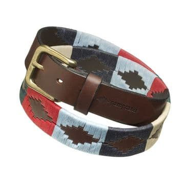 Pampeano Polo Belt, Luxury Hand Stitched Polo Belt - Multi